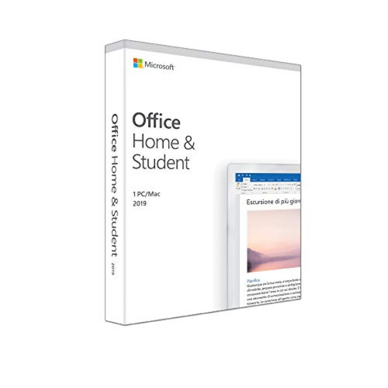 Microsoft Office Home and Student 2019 – 박스 팩 – PC / Mac 1 대, 단일옵션