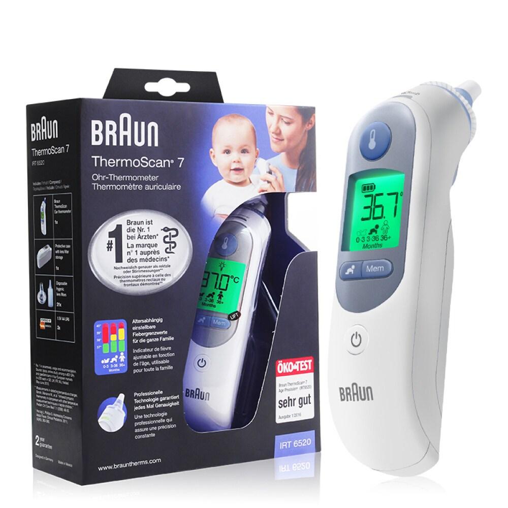 브라운 체온계 접촉식 적외선 귀온계 IRT6520WE, 1개