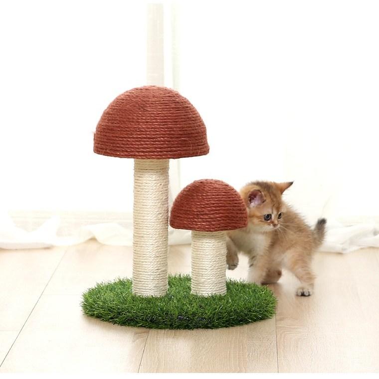 미래물 고양이 기둥잡이 검마실목 소형 캣타워 나무 일체형 덫 인형 용품ZZW, 1개, 핑크A1