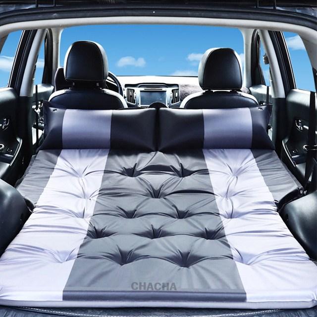 chacha 차량용 에어매트 RV SUV 뒷좌석 매트 자동차 침대(블랙그레이10) 팰리세이드 올뉴카니발 스포티지 싼타페, 선택10 블랙그레이(PVC)