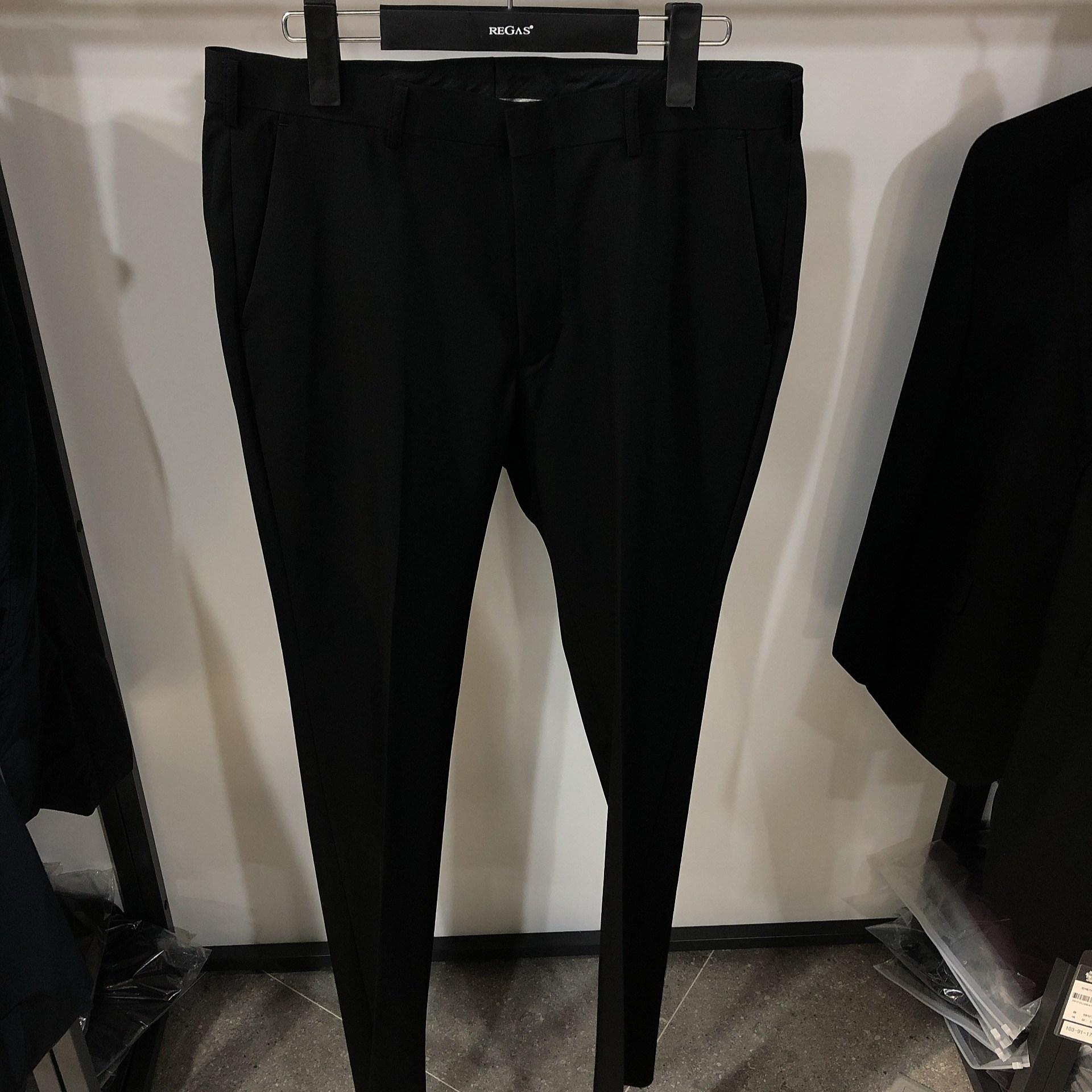 [행복한백화점][보스렌자]남성 기본라인 정장팬츠 슬랙스 심플 블랙팬츠 RFFPA9641