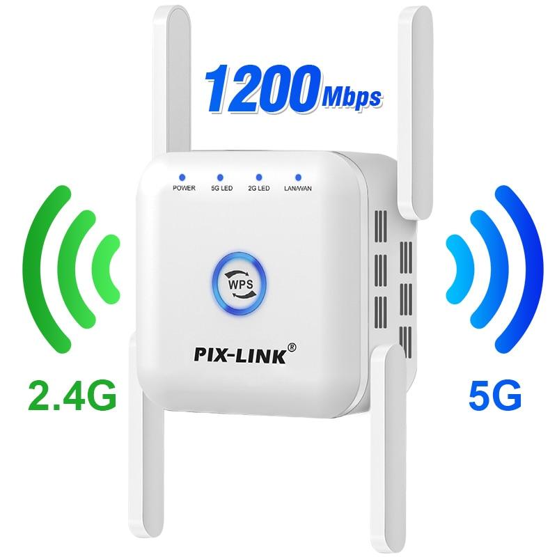 5G 리피터 와이파이 5ghz 1200Mbps 라우터 익스텐더 롱 레인지 24G 부스터 앰프 접속점모뎀라우터 콤보스, 01 EU Plug