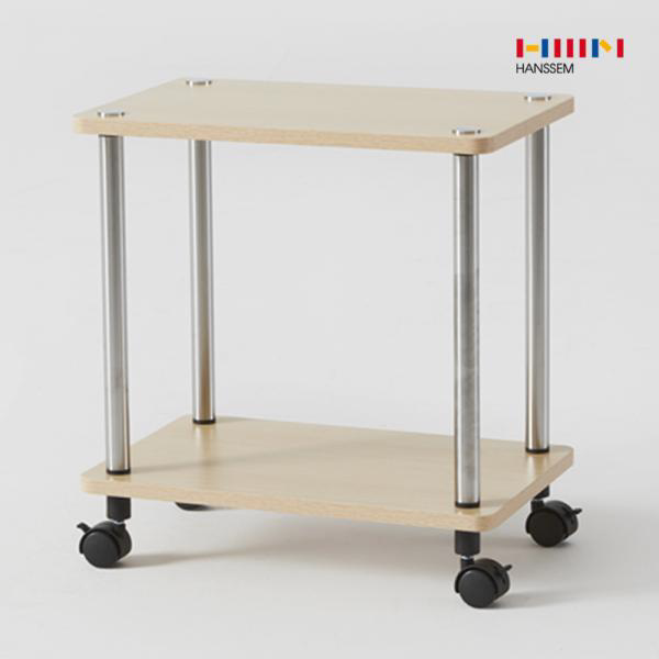 한샘 비앙 이동식 테이블 (직선형) 2단 선반 철제 사, 01.비앙 이동식 테이블(직선형)