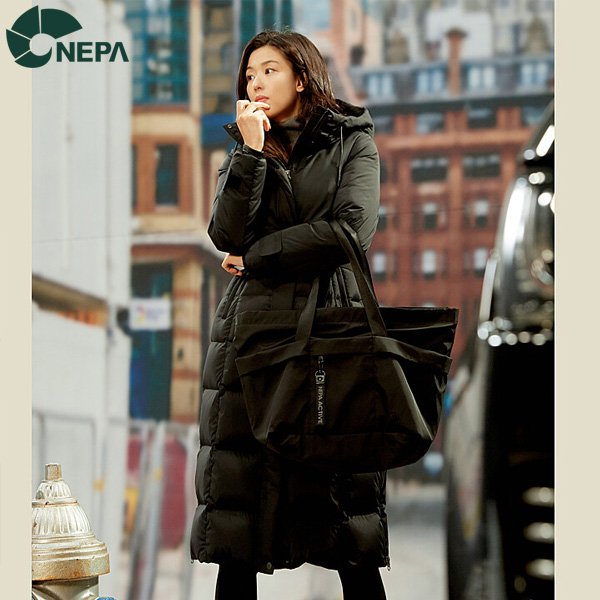 NEPA 네파 여성 안젤로 덕다운자켓 블랙 7G82063