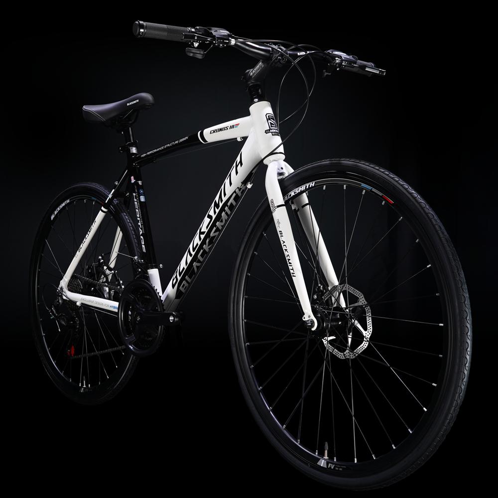 2021 블랙스미스 크로노스 H1 무료조립 디스크브레이크 하이브리드 자전거 더블버티드 알루미늄 프레임, 440사이즈, 베이지/블랙