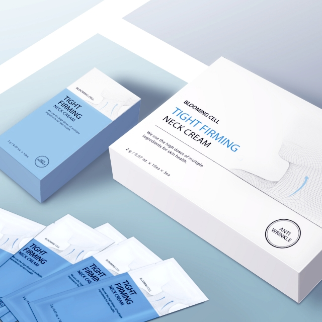블루밍셀 주름 개선 미백 넥 크림 화장품 60g, 30개입, 2g