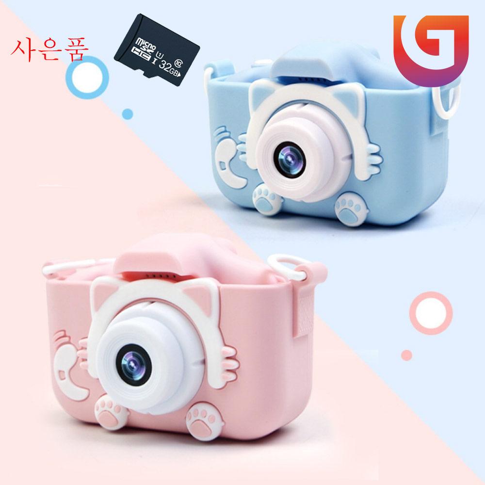 넥스 x5s 2000만 화소 고양이발 디지털 미니카메라, 선택(6)2세대 핑크①GET00174.06