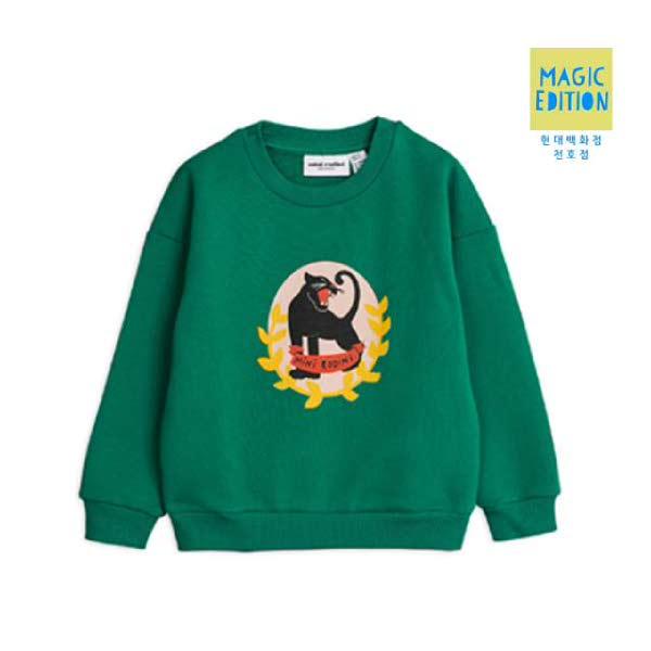 [현대백화점][미니로디니] 재규어그린맨투맨 2022015475 Badge shirt 아동 선물 유아 조카 유니크 입학 수