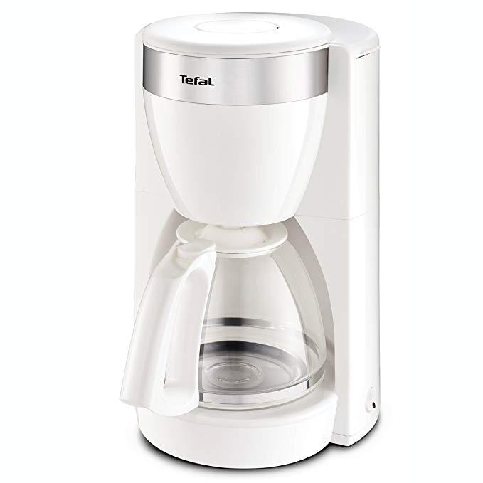 [커피메이커]스테인레스 스틸 요소 10 ~ 15 컵 1000 W 흰색과 테팔 CM1801 Deflini 플러스 유리 커피 머신, 단일상품