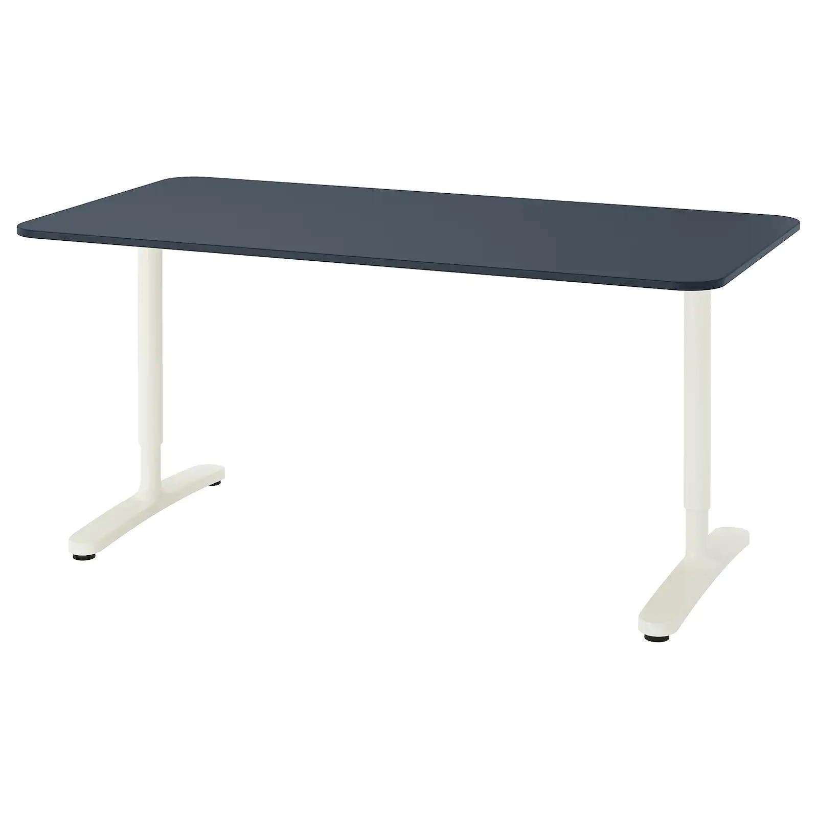 [withIKEA]이케아 책상 BEKANT 베칸트 160x80cm 리놀륨블루+화이트, 이케아 홈퍼니싱 핸드북 파일 제공