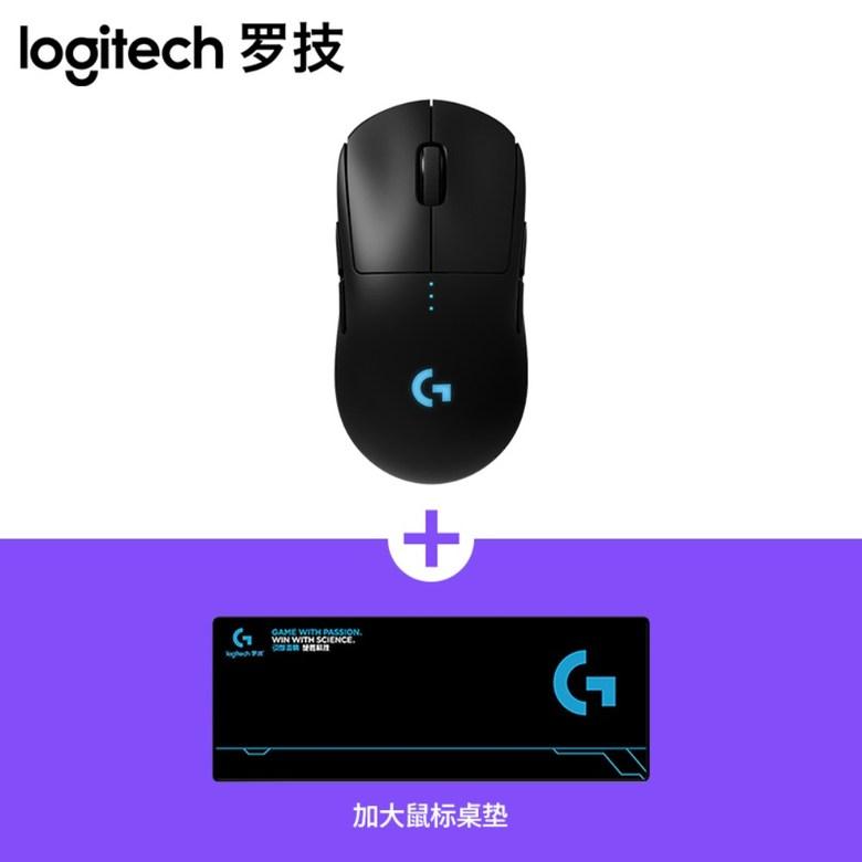 Logitech G PRO 로지텍 지프로 유선 및 무선 게임 게이밍 마우스, G PRO 마우스 + 테이블 매트