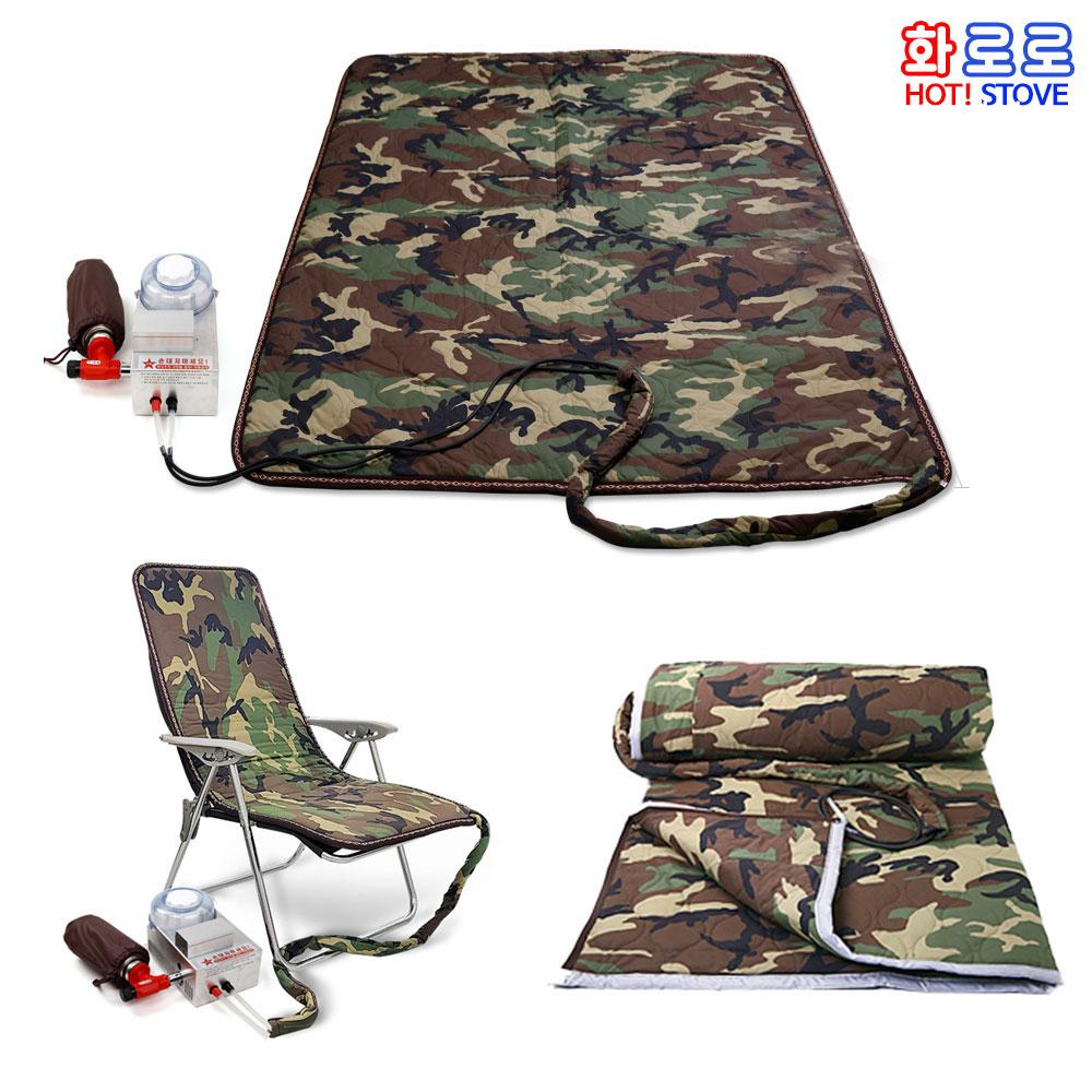 부탄가스 야외온수매트 의자매트 침낭/낚시 캠핑매트, 3.2인용매트+보일러
