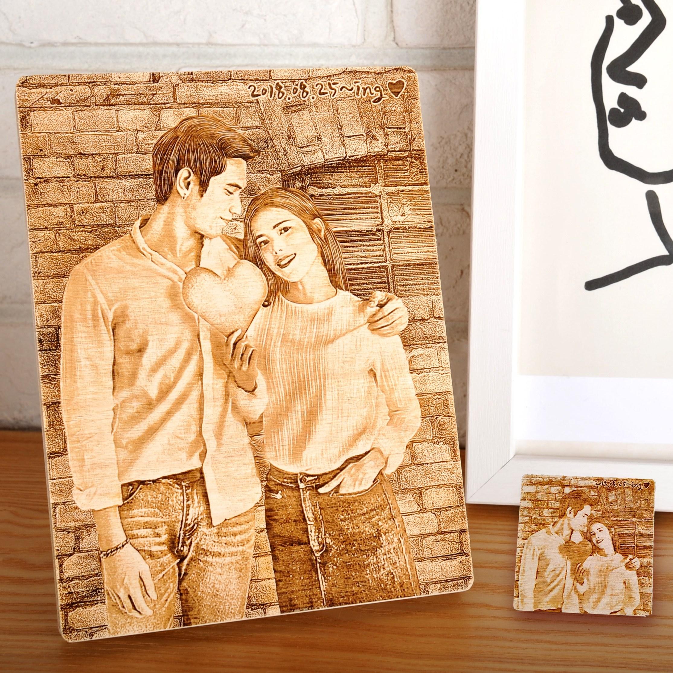 지거스 우드포토 주문제작 부모님생신 선물 기념일선물 센스있는 사진인화 액자