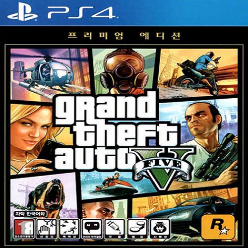 GTA 5 프리미엄 온라인 에디션 PS4 한글판 범죄 액션 오픈월드