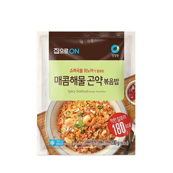 청정원 라이틀리 매콤 해물 곤약볶음밥 200g, 1/1-30-336625243