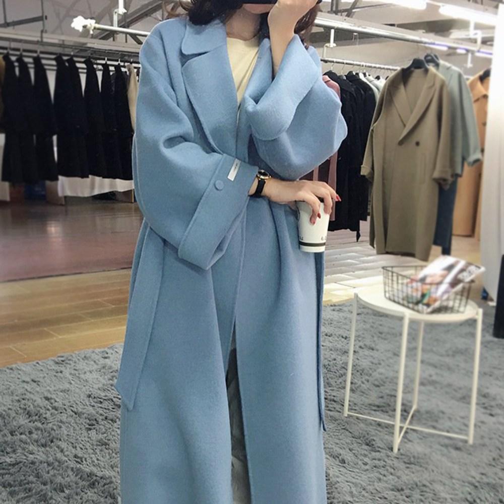 커밍투유 [역시즌세일] 와이드소매 겨울 핸드메이드 코트