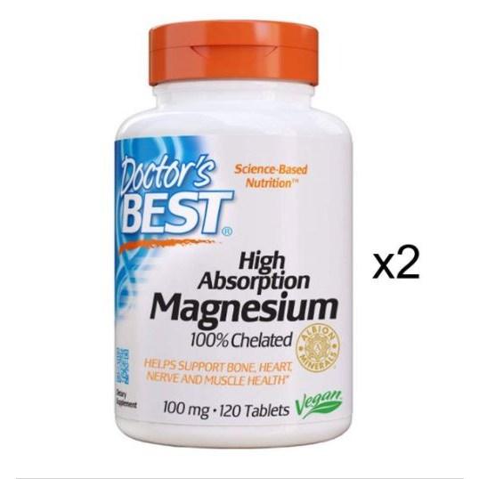 Doctors Best Magnesium 닥터스 베스트 마그네슘 120정 2개, 2팩