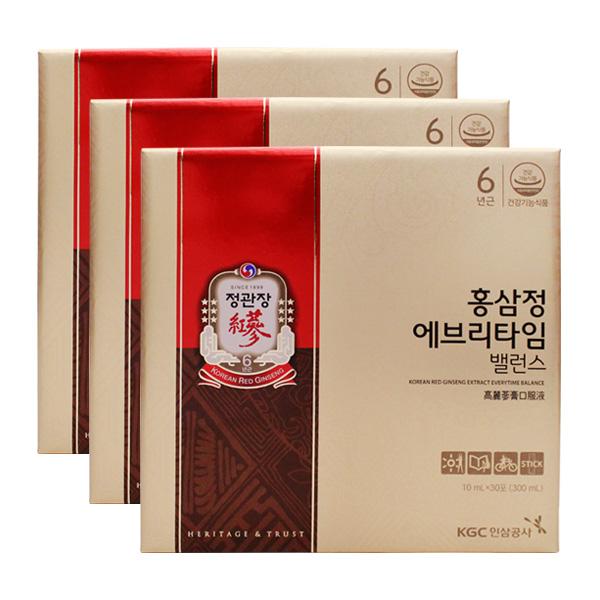 정관장 홍삼정 에브리타임 밸런스 30포X3개 단품 단품