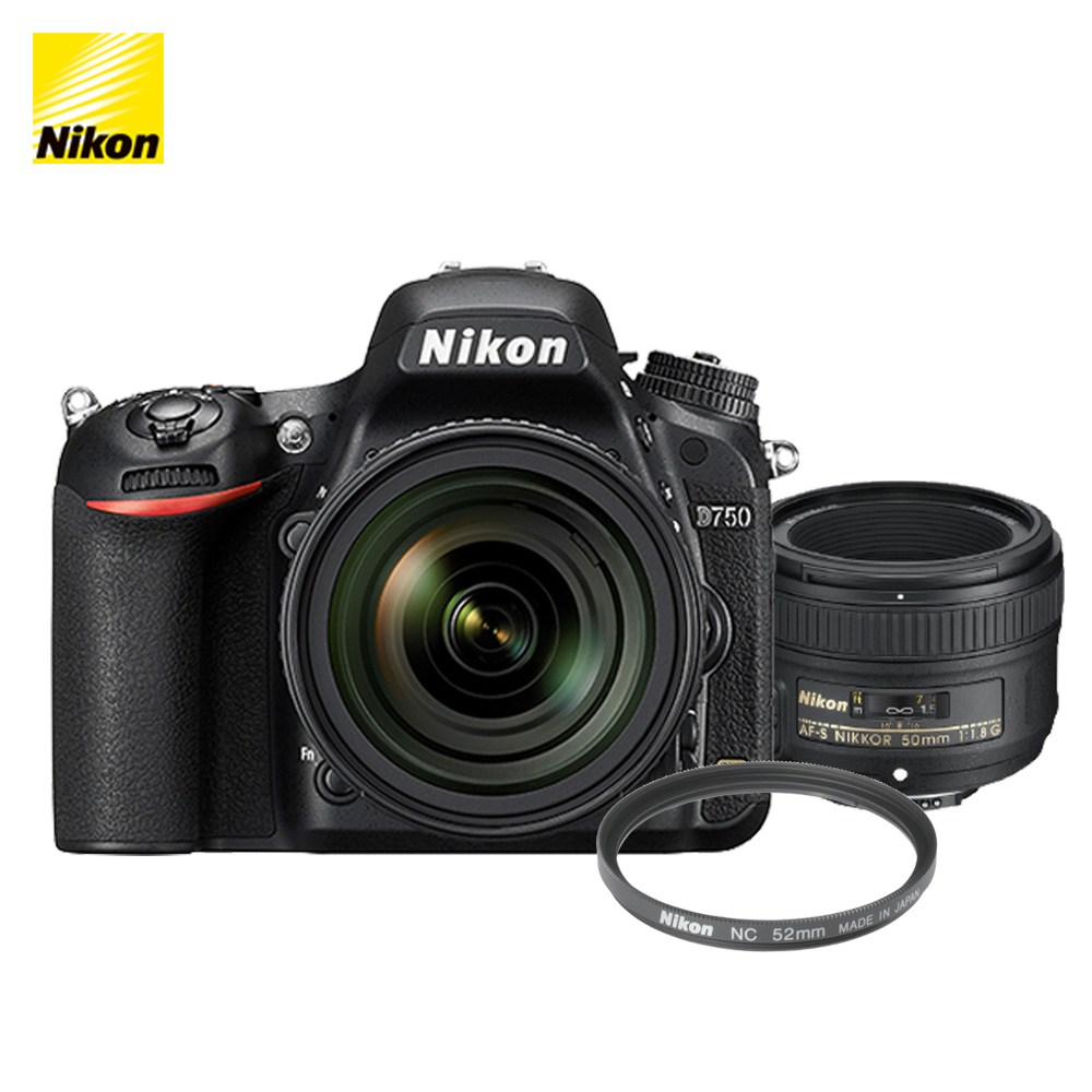 니콘 D750 DSLR, 니콘 D750 + AF-S 50mm f/1.8G + NC 52