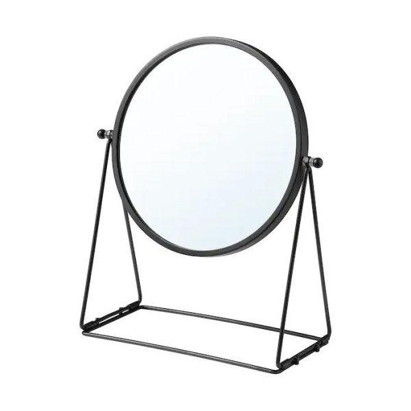 [이케아] LASSBYN 라스뷘 탁상거울/다크그레이/화장대거울, 색상:다크그레이_004.590.98