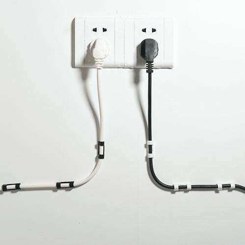 x쇼핑 케이블 선 전선 정리 고정 클립 후크 대형-투명, 16개입