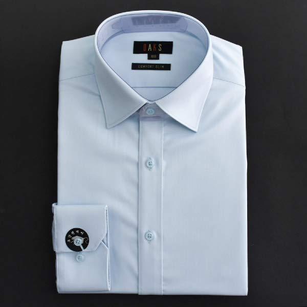 [현대백화점][닥스셔츠] 준슬림핏 이지케어 커프스 포인트 긴소매 솔리드 셔츠 (DHP1SHDL202B1)