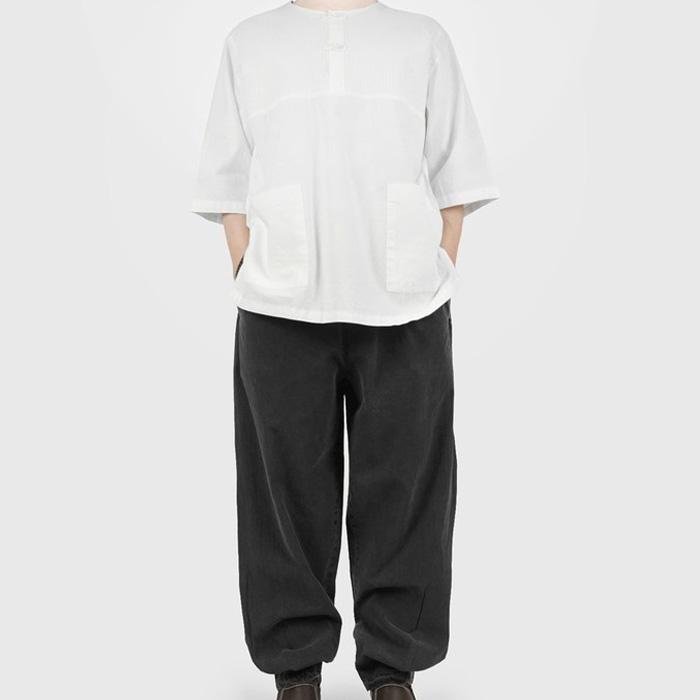 단아한의 여름 생활한복 개량한복 법복 절옷 여성 남성 남여공용 커플 부모님 반팔 저고리+바지 투피스 셋트 / 온건7부세트