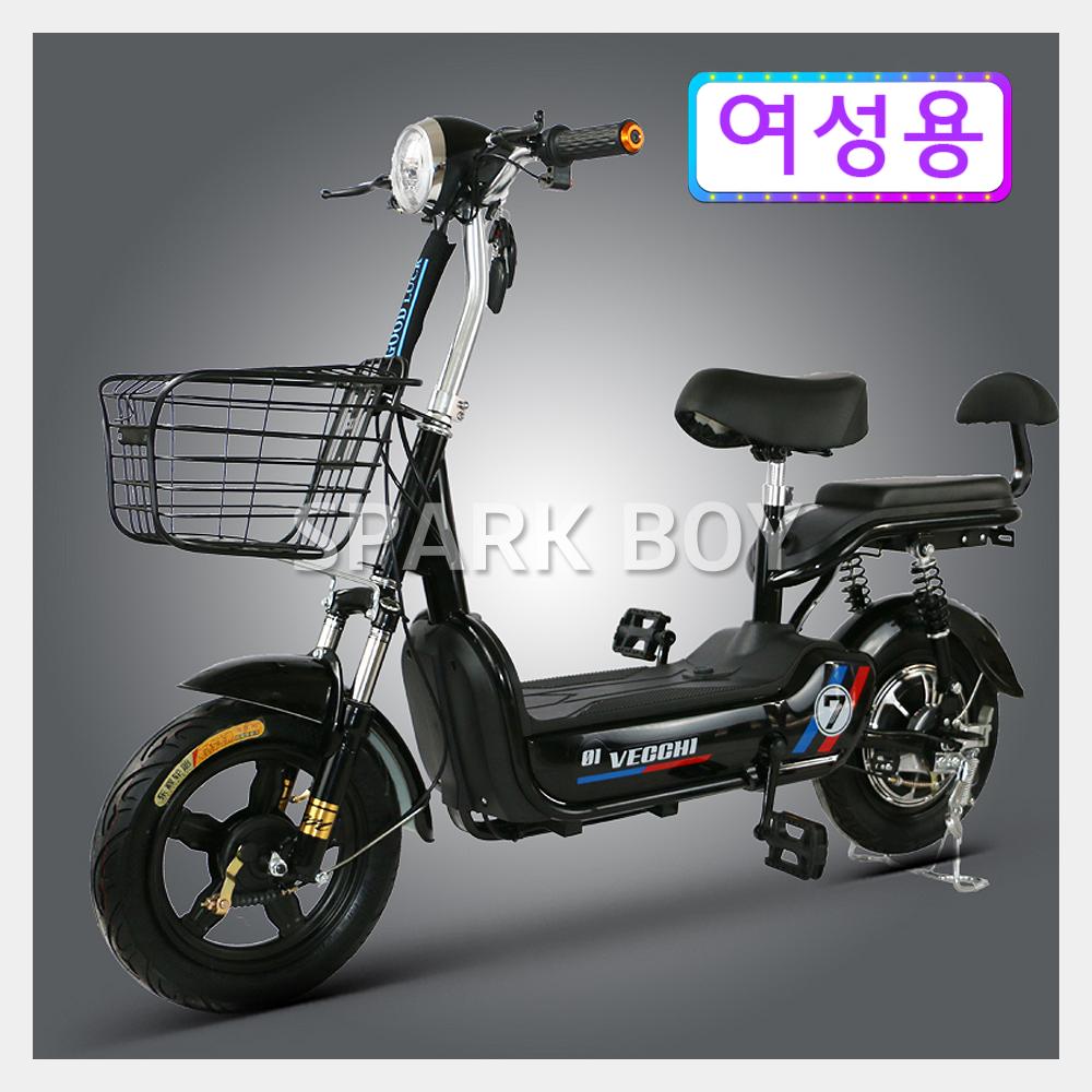 전기 자전거 2020 최신형 GX가성비 갑 여성용 2인용 전기자전거 48V 350W 전동스쿠터 납산 리튬배터리 전동 스쿠터, 블랙