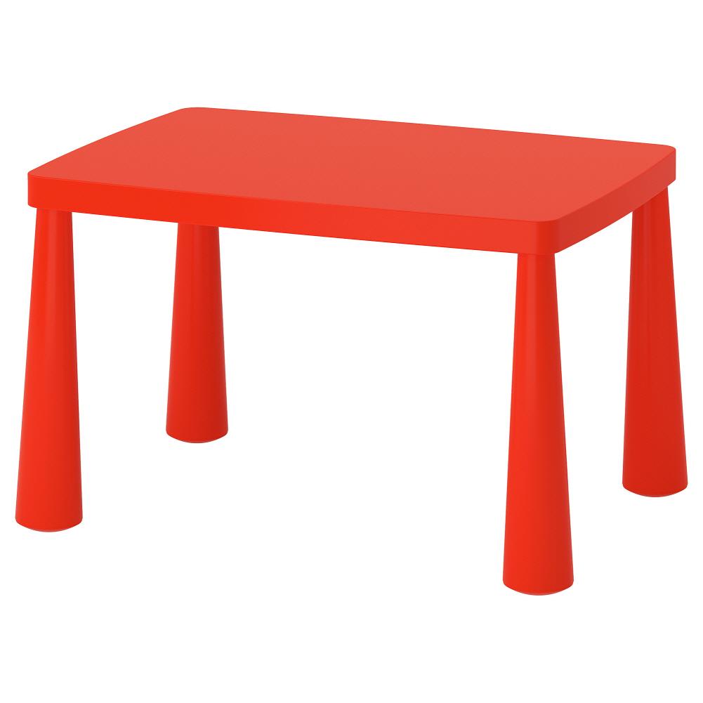 어린이테이블 실내외겸용 레드 맘무트 77x55 cm, 기본