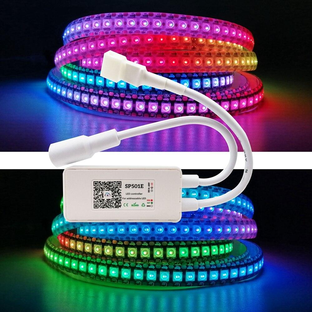 WS2812b 컨트롤러 SP501E Led Wifi 컨트롤러 조광기 라이트 WS2811 가능 스트립 모듈 Alexa 스마트 APP 제어 DC5 24V|RGB Controlers, 1개, SP501E Controller, 단일