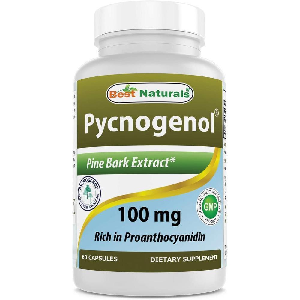 [직구 피크노제놀] Best Naturals Pycnogenol 100 mg 60 Capsules, 1set, 1set