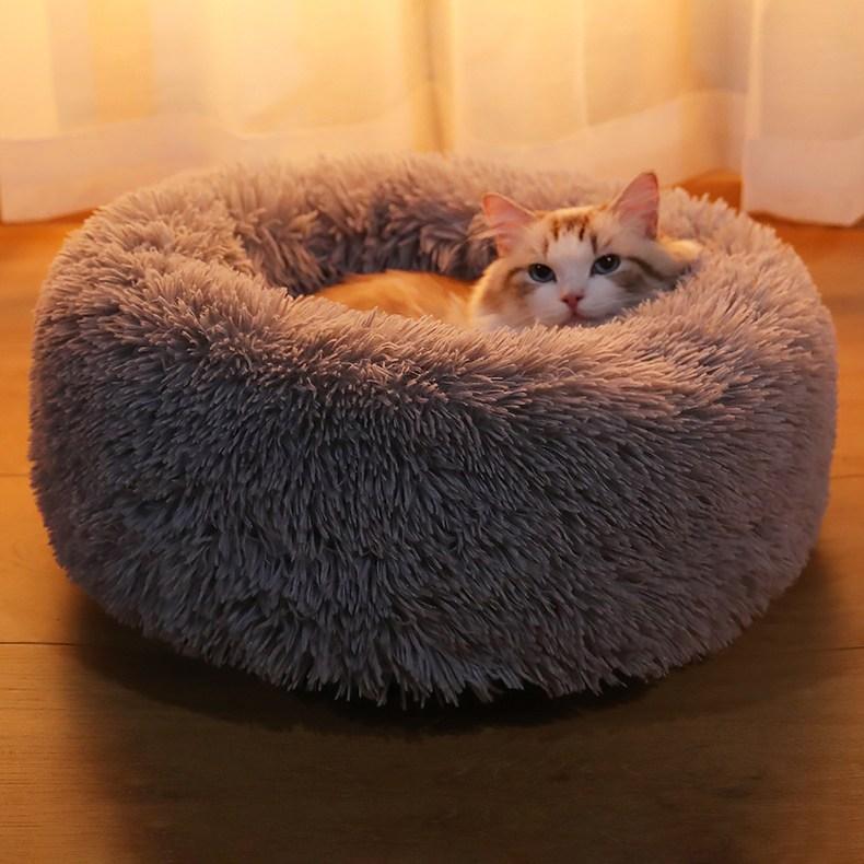 고양이방석 털방석 보온방석 둥지 꾹꾹이 본능 자극 방석, 브라운