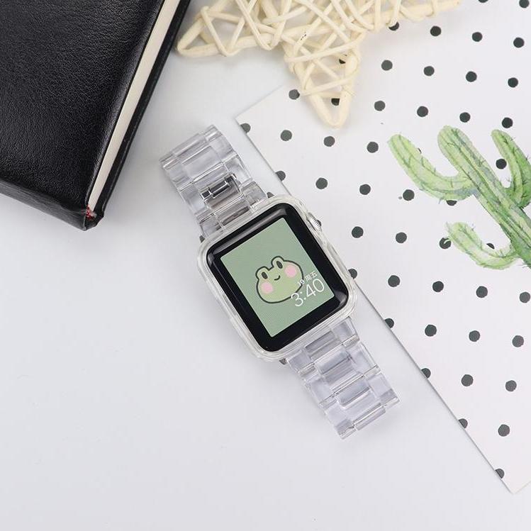 Apple watch 애플워치 투명 스트랩 시계줄 실리콘 밴드 38 40 42 44 mm, 40mm