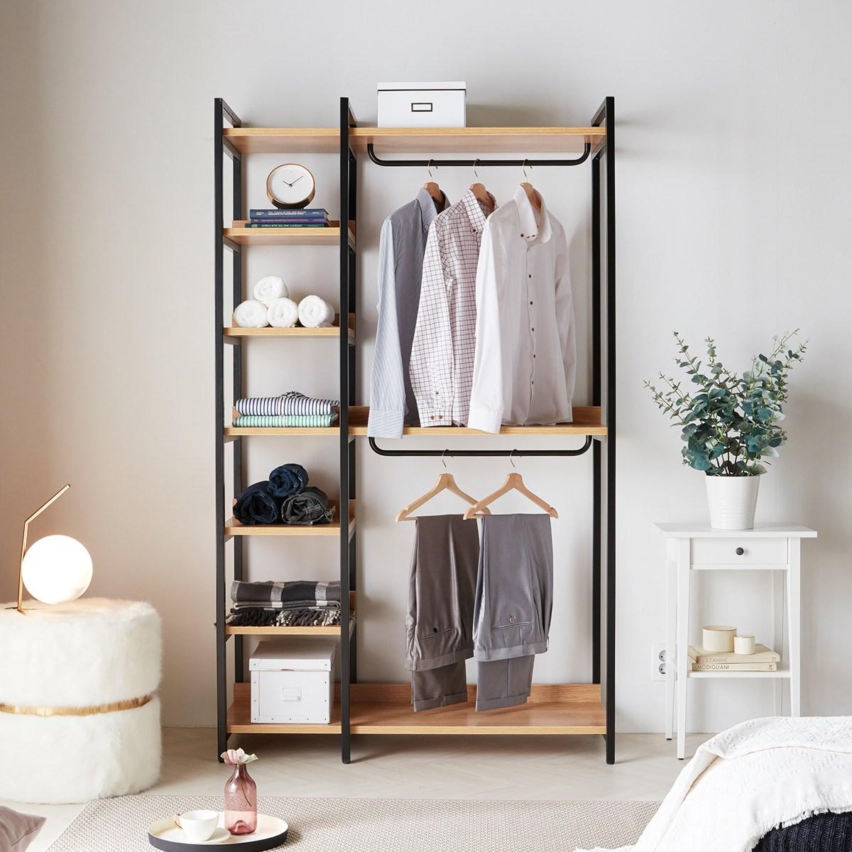 소티디자인 라움 스틸 선반 행거 옷장 1200 시스템옷장 드레스룸, 단일색상