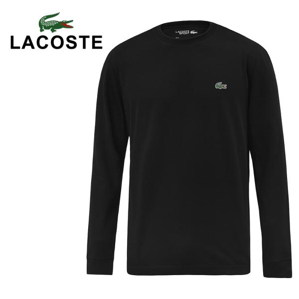 라코스테 라코스테 테크니컬 베이직 크루넥 티셔츠 남자 긴팔티 블랙 TH0123-031