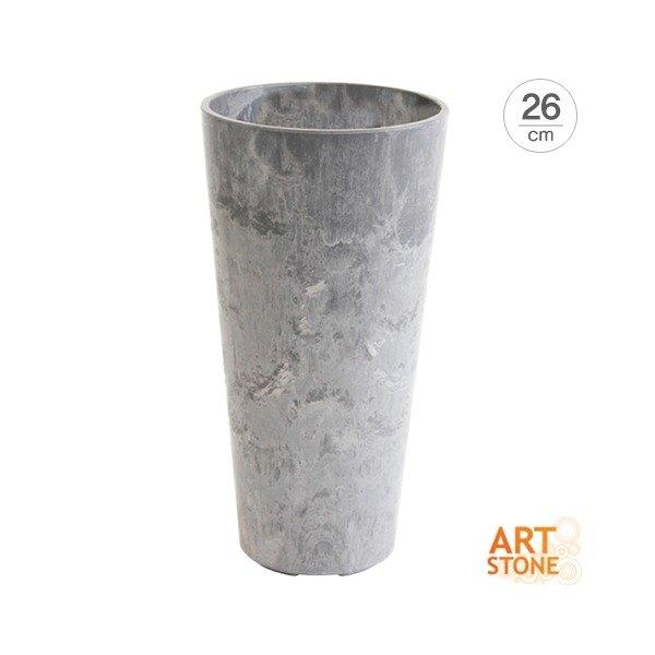 [데팡스] [아트스톤]텔 클레어 인테리어화분(26cm), 사이즈:TC-260 / 색상:블랙