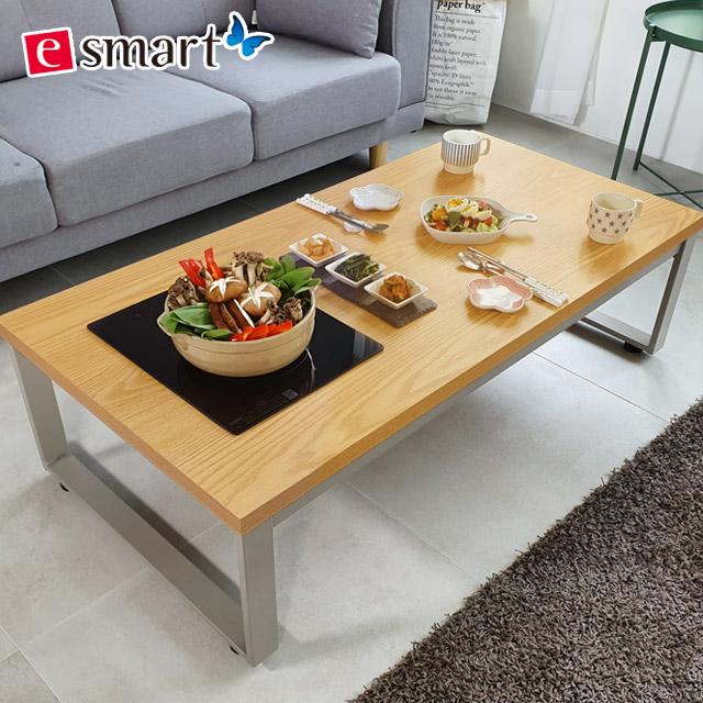 스마트쿡 좌식 식탁테이블 900x600 불판포함, 카페애쉬