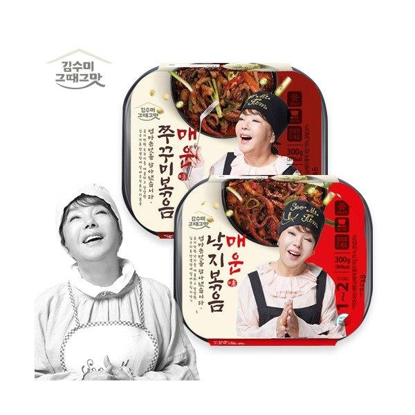 [김수미] [ 그때그맛]매운낙지볶음 300g*2팩+ 매운주꾸미볶음 300g*2팩, 상세 설명 참조