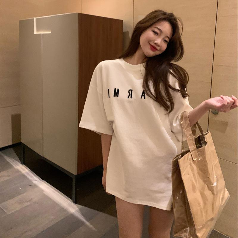 주디엘리 여성 NAPMI 오버핏 반팔 여름 티셔츠 1+1