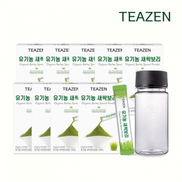 티젠 유기농 새싹보리 4주분 90스틱 보틀증정, 단품