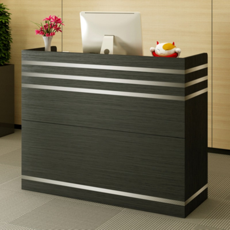 카운터 테이블 인포메이션 업소용 카운터 안내데스크, 검은 버드 나무 + 60x35x90cm