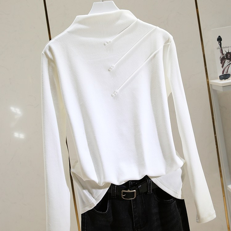 기모 반폴라 긴팔 티셔츠