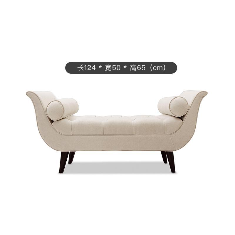 베드벤치 이케아 거실창 침대발밑 반달 긴소파 골드벤치 의자 끝 의자 패브릭 미국 신 옆, 1.24m 길이 970m 흰색