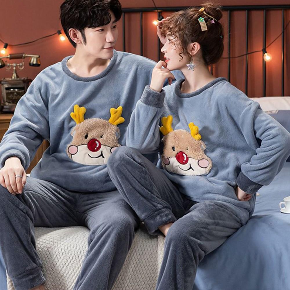 커플잠옷 신혼부부선물 크리스마스선물 수면잠옷 홈웨어 룰루돌프 잠옷