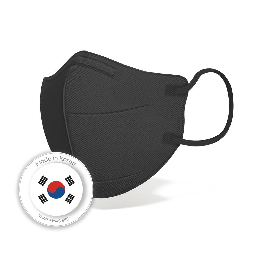 스틸가드 KF94 국산 마스크 블랙 새부리형 대형 50매 숨쉬기 편한, 100매 (POP 5536850570)