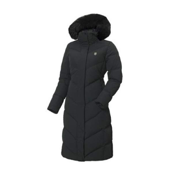 [현대백화점]케이스위스 19JD455 여성 오리털 롱다운 롱패딩 겨울 보온 여우모자털 패딩
