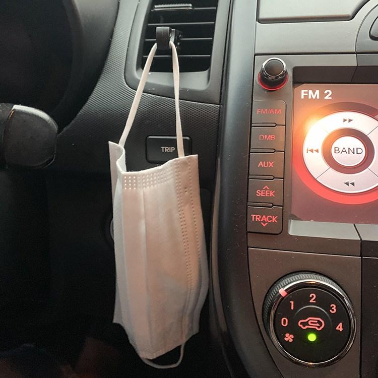 [투썬빌리지] 송풍구에 끼워쓰는 차량용 마스크걸이 2P세트 - 다용도후크 송풍구거치대 차량용후크