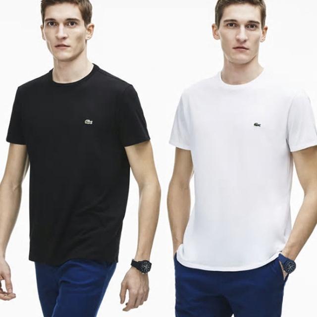 라코스테 남녀공용 라운드 반팔티셔츠 반팔 티셔츠