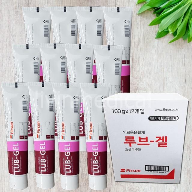 퍼슨 농글리세린 의료용 윤활제 루브겔 100g 12개 1박스 (POP 2058097166)