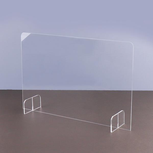아코빅스 아크릴 투명 칸막이 가림막 보건소 약국 병원 급식실 비말 차단막, 60x40cm(3T)_가림형